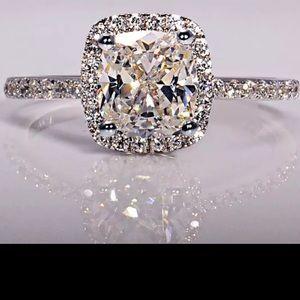 Sterling stamped Valentine's day gift diamond ring